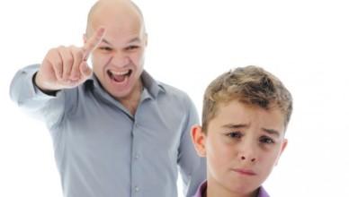 Não descarregue as suas frustrações sobre seus filhos